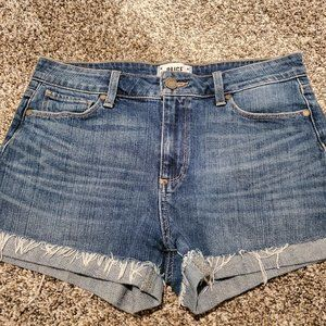 Paige Jimmy Jimmy Cuffed Jean Shorts Medium Blue
